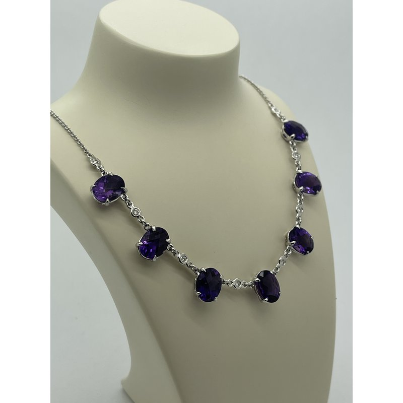 Jewelry Couture Exclusives Amethyst and Diamond Necklace