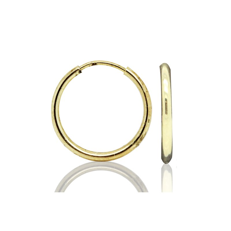 Estate Jewelry Yellow Gold Hoops