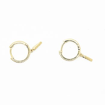 Diamond Detail Gold Huggie Hoops