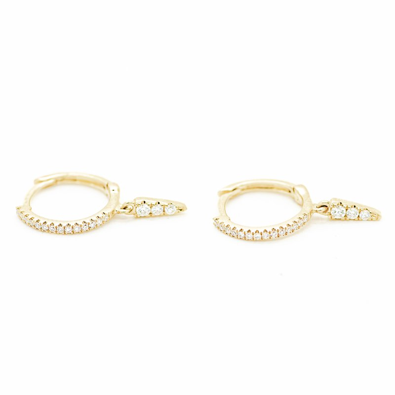Jewelry Couture Exclusives Diamond Detail Gold Huggie Hoops