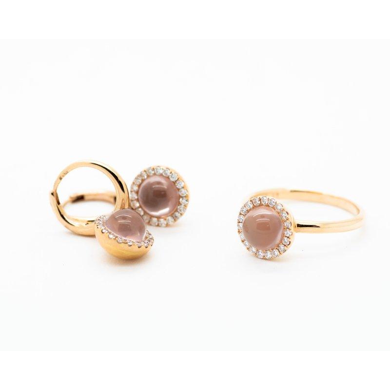 Jewelry Couture Exclusives Round Rose Quartz Diamond Ring