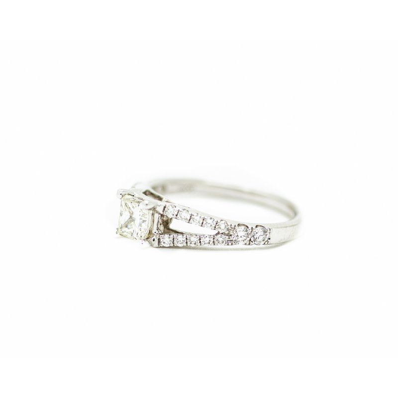 Jewelry Couture Exclusives Princess Cut Split Band Engagement Ring