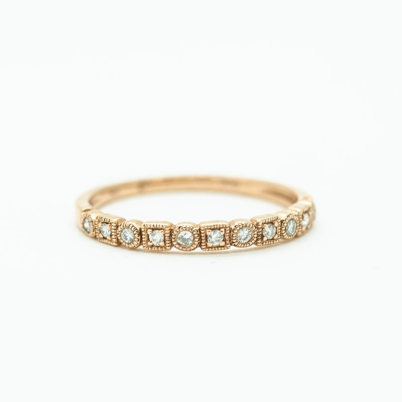 Jewelry Couture Exclusives Geometric Diamond Rose Gold Stacking Band