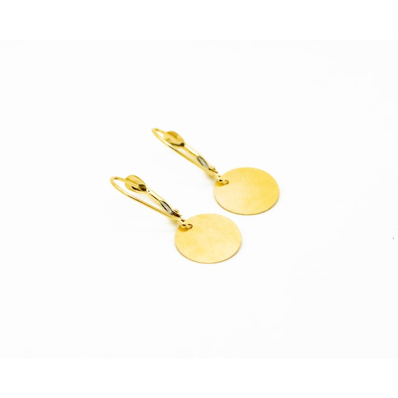 Jewelry Couture Exclusives 14k Yellow Gold Disc Drop Earrings