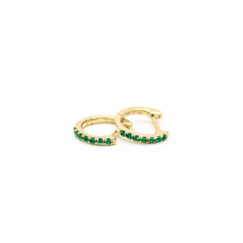 Jewelry Couture Exclusives Emerald Huggie Hoops