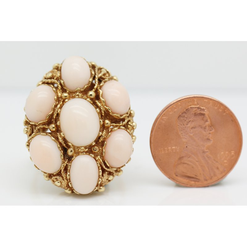 Estate Jewelry Angel Skin Coral Ring