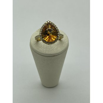 Pear Citrine Ring