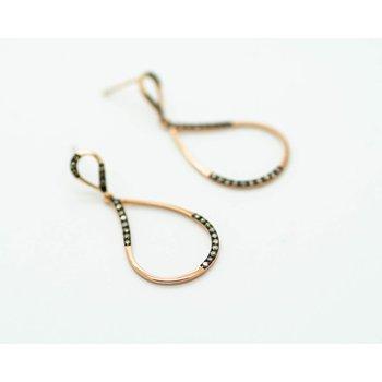 Suave 14k Rose Gold Chocolate Diamond Earrings