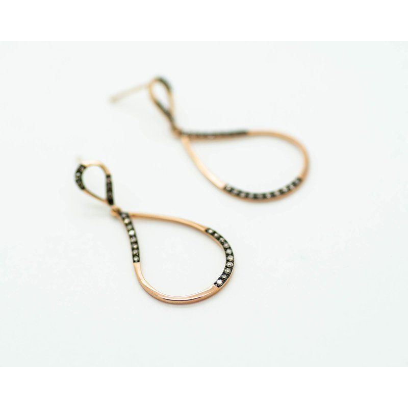 Jewelry Couture Exclusives Suave 14k Rose Gold Chocolate Diamond Earrings