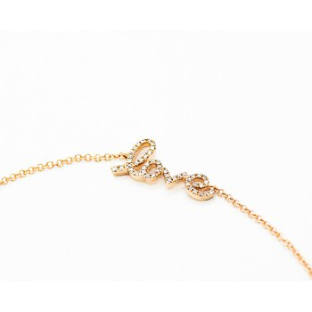 Rose Gold Love Diamond Bracelet