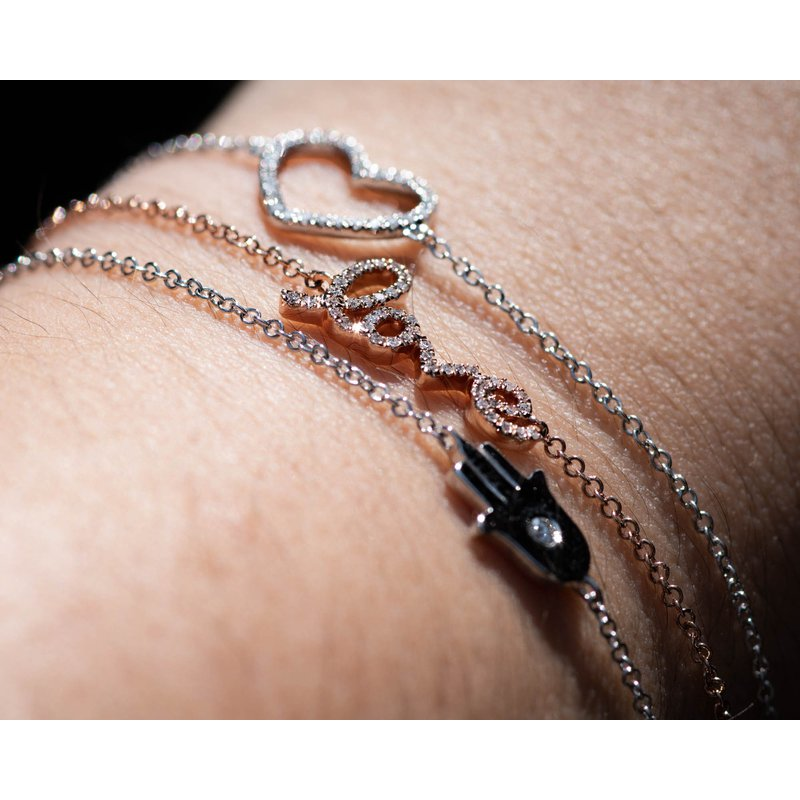 Jewelry Couture Exclusives Rose Gold Love Diamond Bracelet