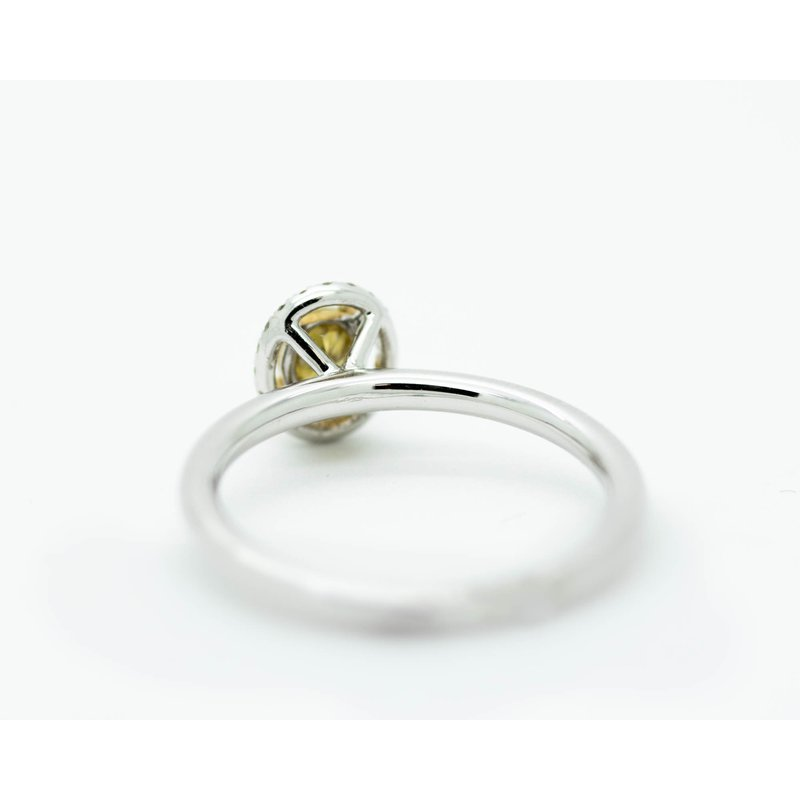 Jewelry Couture Exclusives 14k White Gold Yellow Diamond Engagement Ring