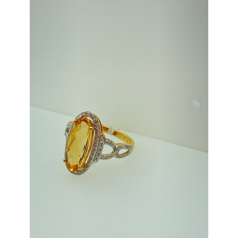 Jewelry Couture Exclusives Citrine Diamond Fashion Ring