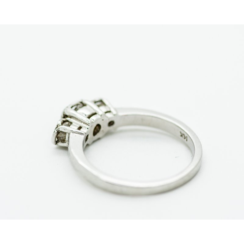 Jewelry Couture Exclusives Raw Diamond Tri-Stone Engagement Ring