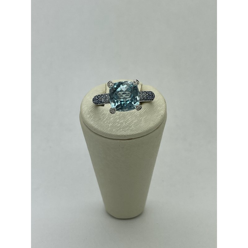 Jewelry Couture Exclusives Blue Topaz and Diamond Ring