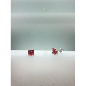 Pink Tourmaline Studs