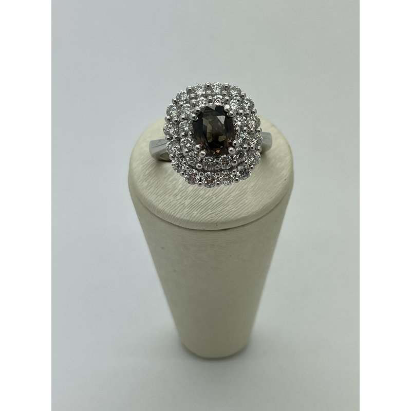 Jewelry Couture Exclusives Platinum Alexandrite and Diamond Ring