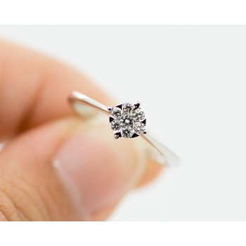 Hidden Flower Diamond Ring