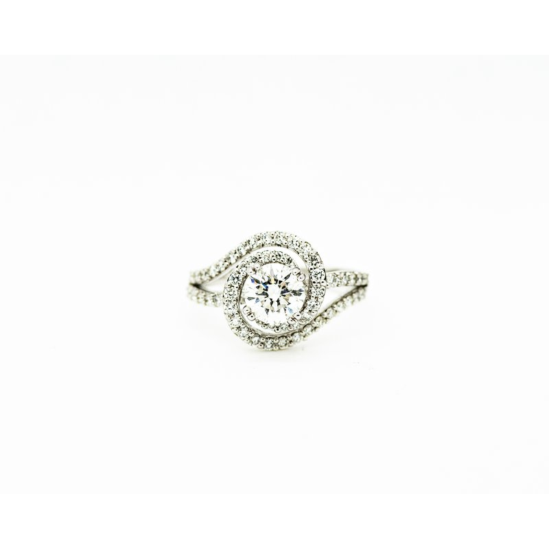Jewelry Couture Exclusives Flow Bypass Engagement Ring