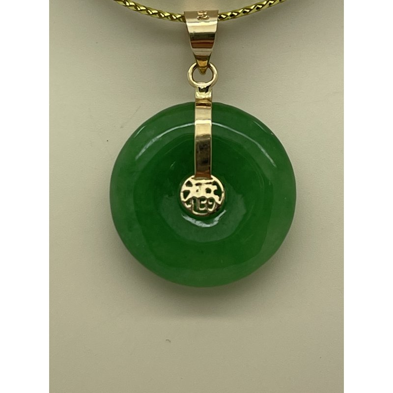 Jewelry Couture Exclusives Circular Jade Pendant