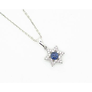 Star of David Sapphire Necklace
