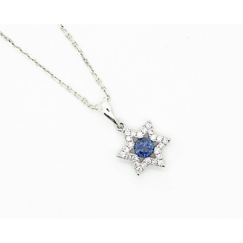 Jewelry Couture Exclusives Star of David Sapphire Necklace