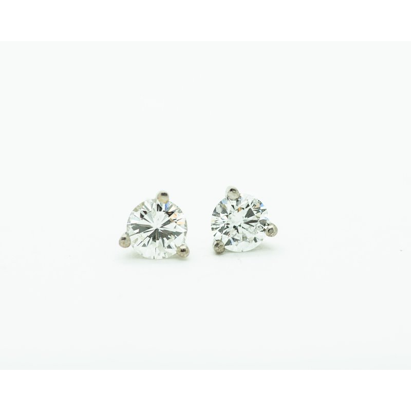 Jewelry Couture Exclusives 14k White Gold 0.85ct Diamond Studs