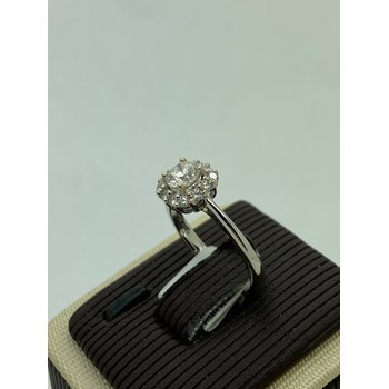 .47CT Round Diamond with Halo Engagement Ring