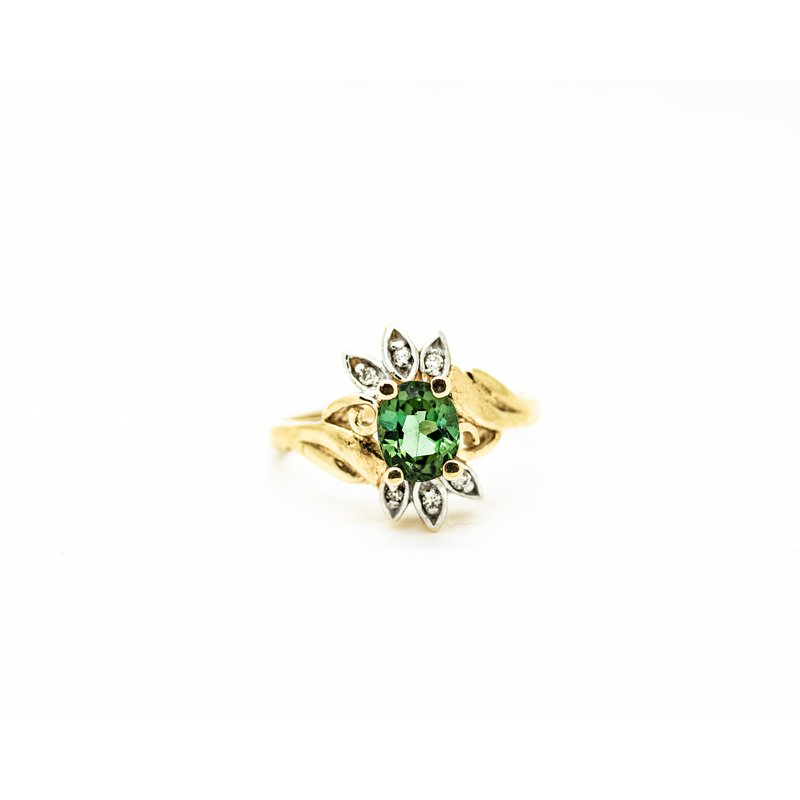 Jewelry Couture Exclusives Starburst Green Tourmaline Ring