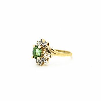 Starburst Green Tourmaline Ring