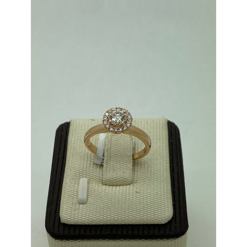 Jewelry Couture Exclusives .54CT Rose Gold Engagement Ring with Halo