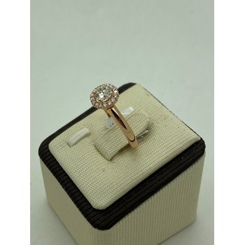 .54CT Rose Gold Engagement Ring with Halo
