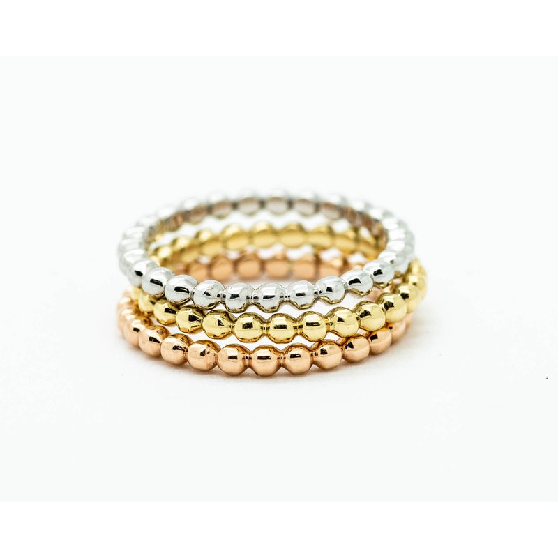 Jewelry Couture Exclusives 14k Gold Mixed Metal Stacking Set