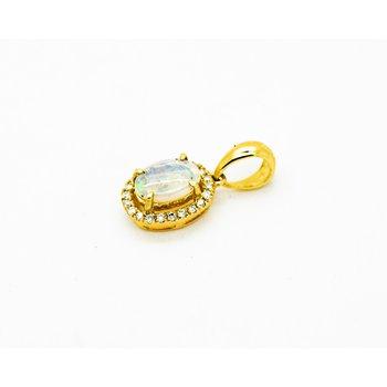 Australian Opal Yellow Gold Pendant