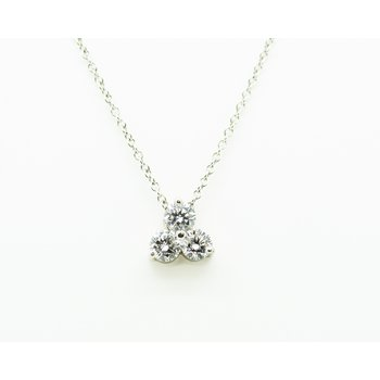 Triple Diamond Drop Necklace