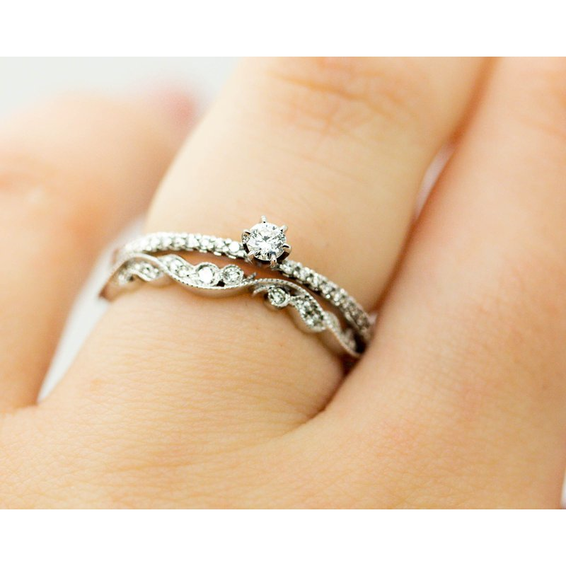 Jewelry Couture Exclusives Dainty Diamond Stacking Ring