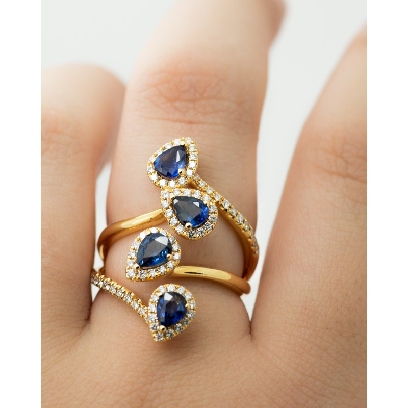 Jewelry Couture Exclusives Climbing Multi-Stone Sapphire and Diamond Ring