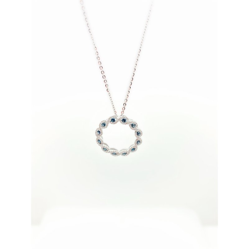 Jewelry Couture Exclusives Sapphire and Diamond Circle Pendant