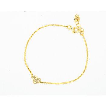 Dainty Heart Diamond Bracelet