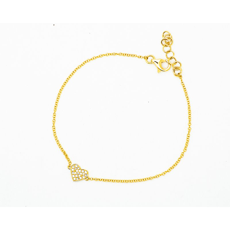 Jewelry Couture Exclusives Dainty Heart Diamond Bracelet