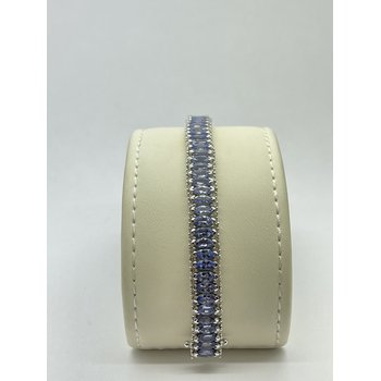 Diamond and Tanzanite Bracelet