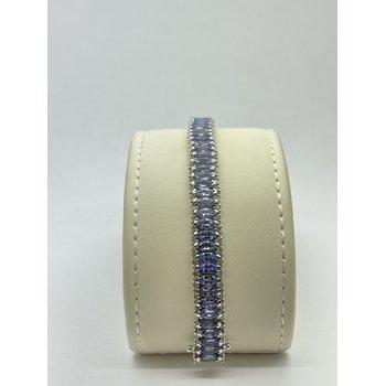 Diamond and Tanzanite Bracelet