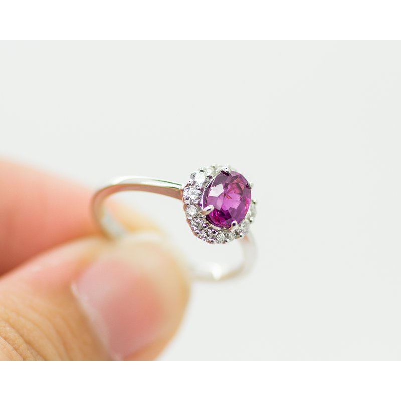 Jewelry Couture Exclusives Red Sapphire Diamond Ring