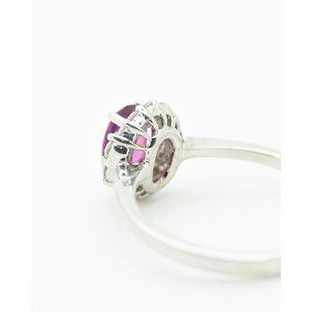 Red Sapphire Diamond Ring