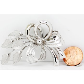 Flower Bow Brooch