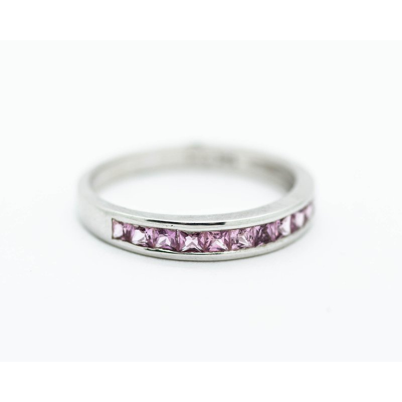 Jewelry Couture Exclusives Pink Sapphire Inlay Stacking Band