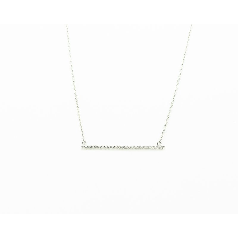 Jewelry Couture Exclusives 18k White Gold Diamond Bar Necklace