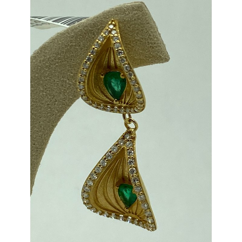 Jewelry Couture Exclusives Emerald Fashion Earrings