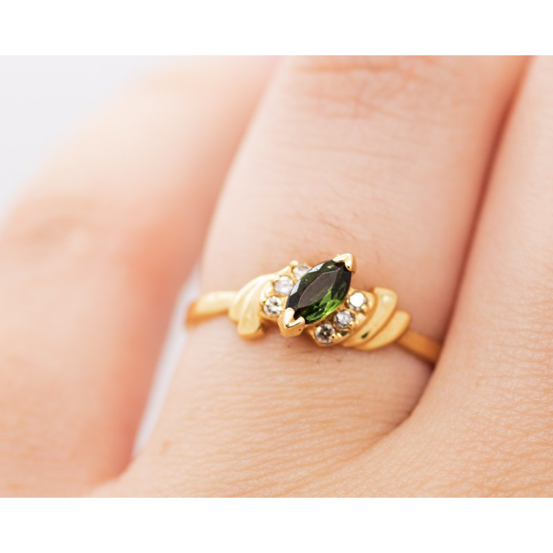 Jewelry Couture Exclusives Vintage Tourmaline Diamond Ring