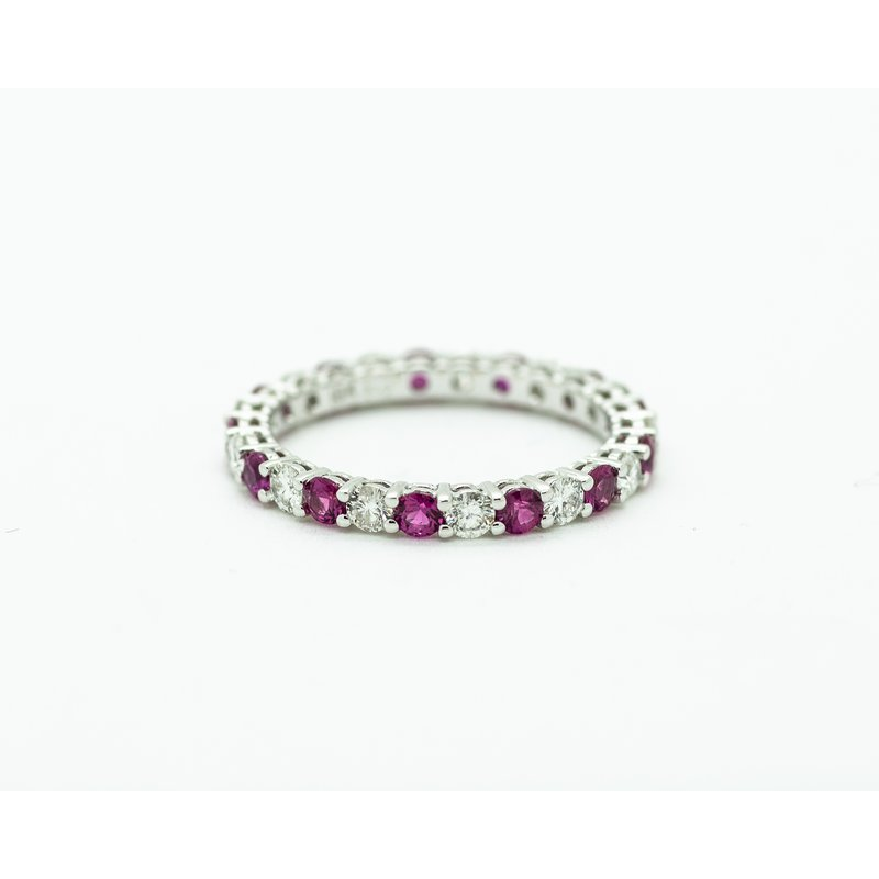 Jewelry Couture Exclusives Diamond and Ruby Eternity Band